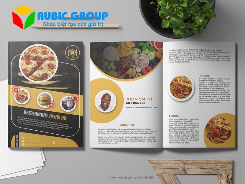 thiết kế catalogue thực phẩm 2