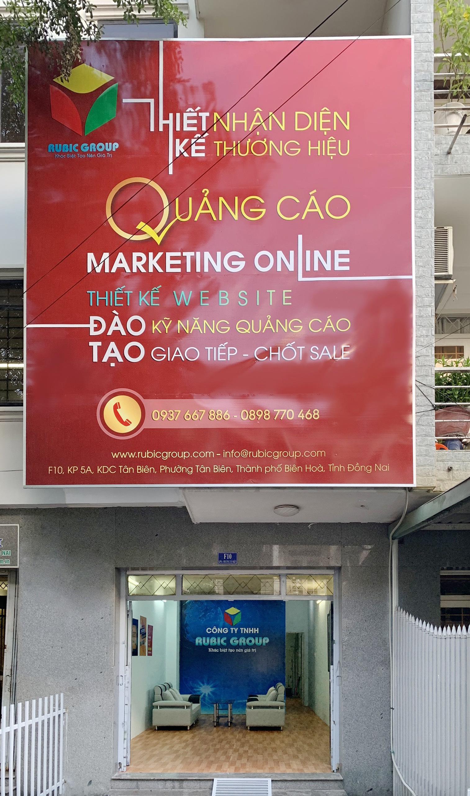 Bảng quảng cáo của RUBIC group